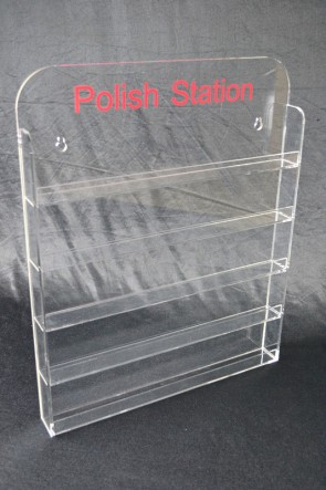 Nail Polish Display 5mm Acrylic Stand Wall Mount Holds 60-65
