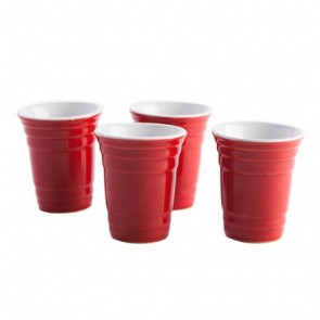 Red Cup Shot Glass Set of 4