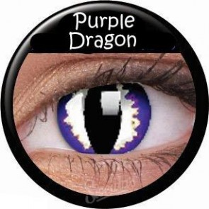 Crazy Lens Contacts - Purple Dragon