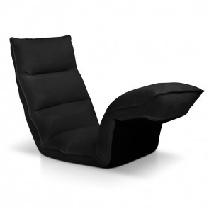 4 Adjustable Section Floor Lounge Chair Black