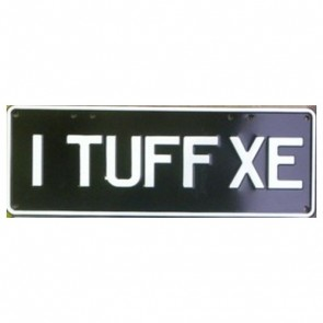 Novelty Number Plate - I Tuff XE