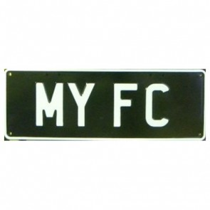 Novelty Number Plate - My FC - White On Black