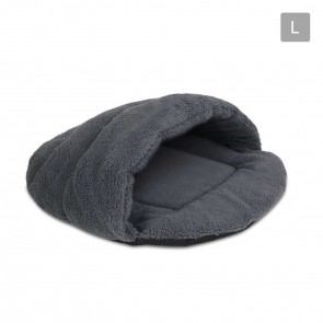 Cave Style Pet Bed Grey - Large