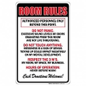 Parking Sign - Room Rules