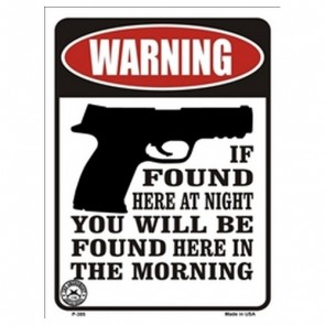 Parking Sign - Warning If Found Here At Night