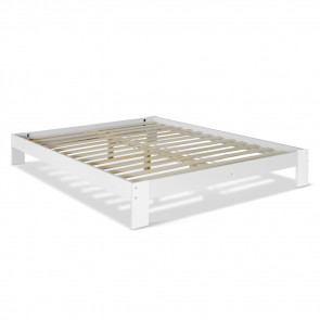 Artiss Double Wooden Bed Frame Base - White WBED-C-040D-137-AB
