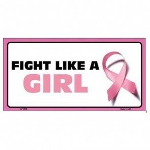 USA Novelty Number Plate - Cancer Pink - Fight Like A Girl