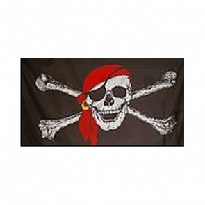 Confederate Flag with Pirate Skull and Crossbones 5' x 3'