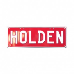 HOLDEN Novelty Number Plate (White on Red)