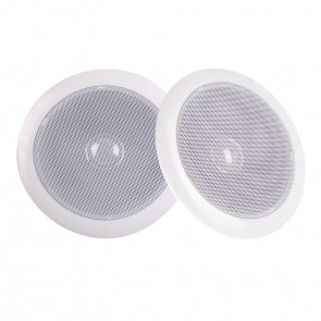 2x Home Theatre Round Ceiling Speakers 6 inch