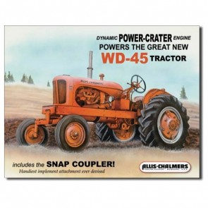 Sign - Allis Chalmers WD45 Tractor