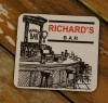 Personalised Drink Coaster Set Of 4 - Black and White Bar
