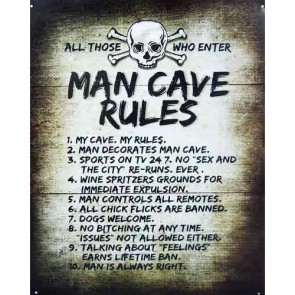 Sign - Man Cave Rules