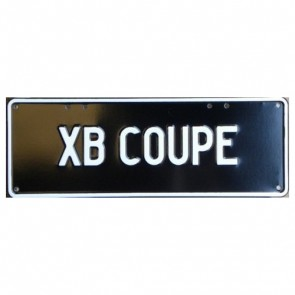 Novelty Number Plate - Xb Coupe